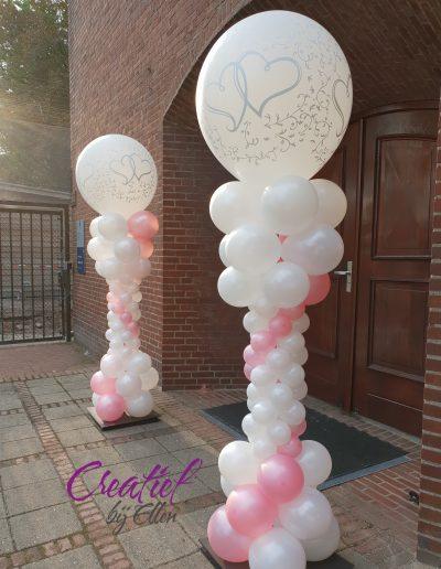 bruidszuilen 54 roze met pearl
