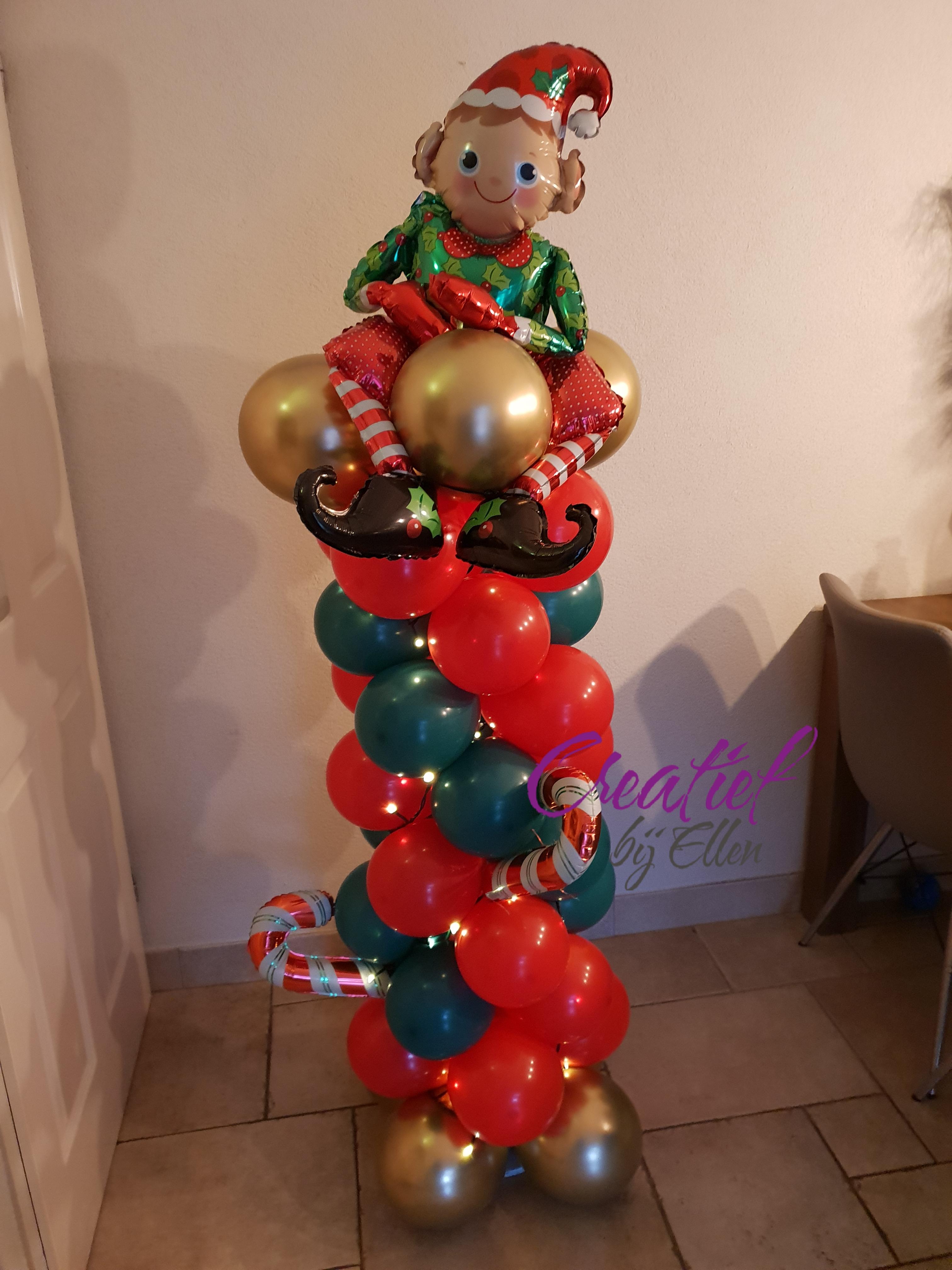 kerst ballonpilaar 31