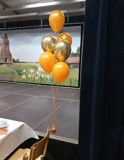 oranje koningd boeket 6 ballonnen